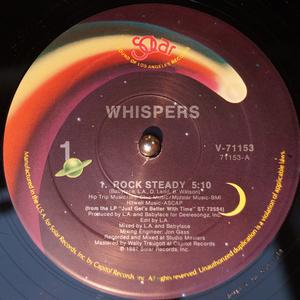 Front Cover Single The Whispers - Rock Steady