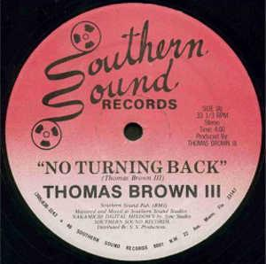 Front Cover Single Thomas Brown Iii - No Turning Back