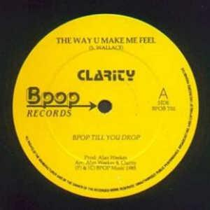 Front Cover Single Clarity - The Way U Make Me Feel