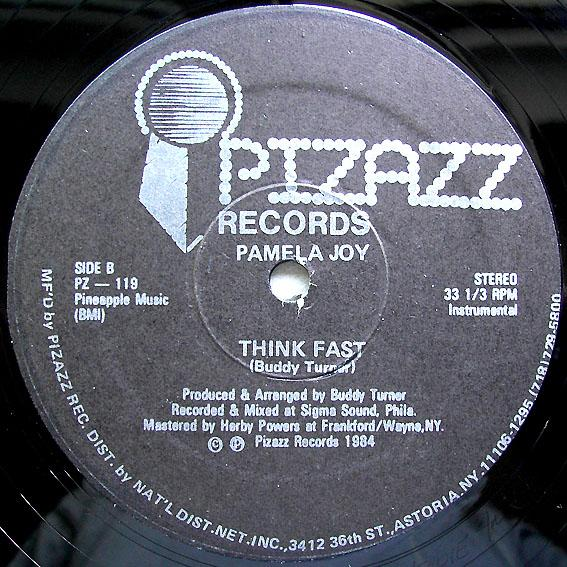 Front Cover Single Pamela Joy - Think Fast