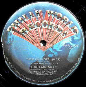 Front Cover Single Captain Sky - Them Changes