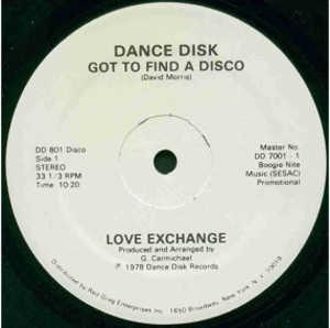Front Cover Single Love Exchange - Got To Find A Disco