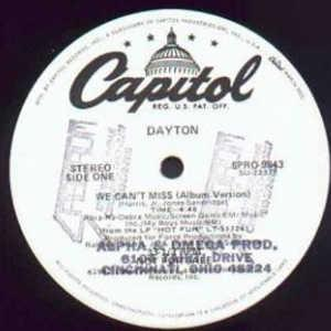 Front Cover Single Dayton - We Can't Miss