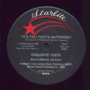 Front Cover Single Exquisite Taste - It's You That's Happening
