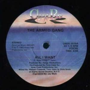 Front Cover Single Armed Gang & Kenny Claiborne - All I Want