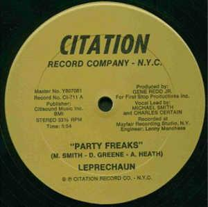 Front Cover Single Leprechaun - Party Freaks