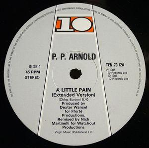 Front Cover Single P.p. Arnold - A Little Pain