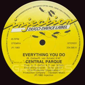 Front Cover Single Central Parque - Everything You Do