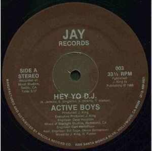 Front Cover Single Active Boys - Hey, Yo D.J.