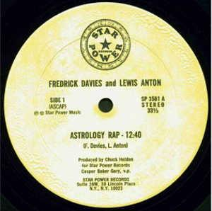 Front Cover Single Fredrick Davies And Lewis Anton - Astrology Rap