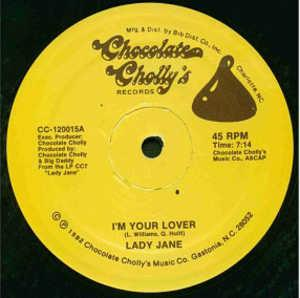 Front Cover Single Lady Jane - I'm Your Lover
