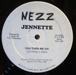 Front Cover Single Jennette - You Turn Me On