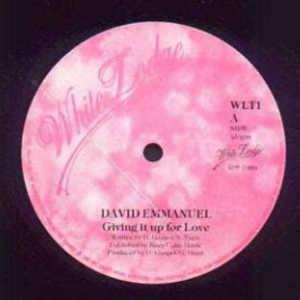 Front Cover Single David Emmanuel - Giving It Up For Love
