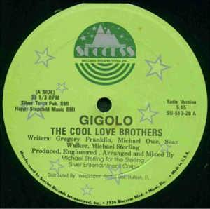 Front Cover Single The Cool Love Brothers - Gigolo