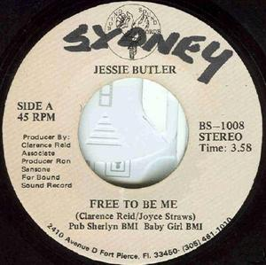 Front Cover Single Jessie Butler - Free To Be Me