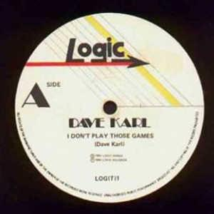 Front Cover Single Dave Karl - I Don't Play Those Games