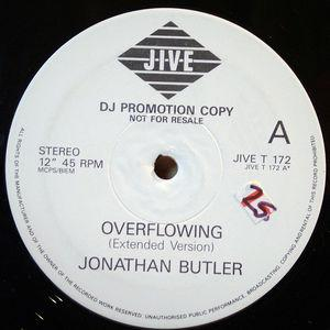Front Cover Single Jonathan Butler - Overflowing