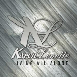 Front Cover Single Karen Linette - Living All Alone (remake Phyllis Hyman)