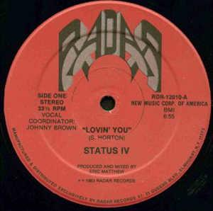 Front Cover Single Status Iv - Lovin' You
