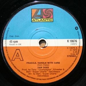 Front Cover Single Sam Dees - Fragile, Handle With Care