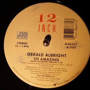 Front Cover Single Gerald Albright - So Amazing