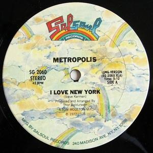 Single Cover Metropolis - I Love New York