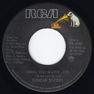 Single Cover Duncan Sisters - Gonna Stay In Love