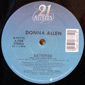 Single Cover Donna - Satisfied Allen