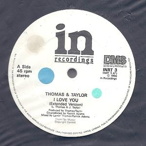 Single Cover Thomas And Taylor - I Love You