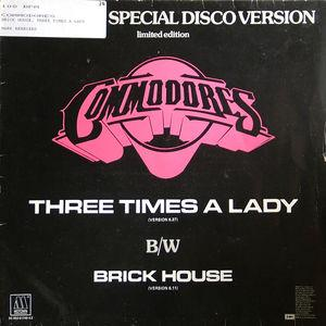 Single Cover Commodores - Three Times A Lady