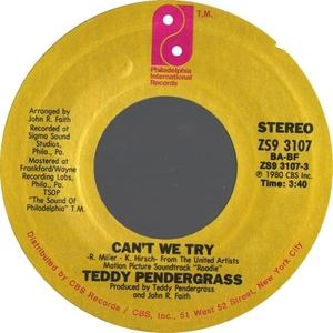 Single Cover Teddy - Can't We Try Pendergrass