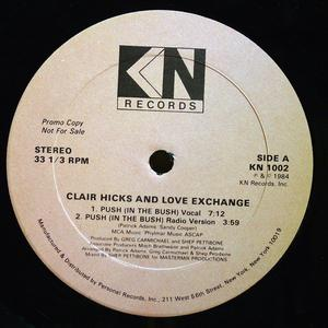 Single Cover Clair Hicks And Love Exchange - Push (in The Bush)