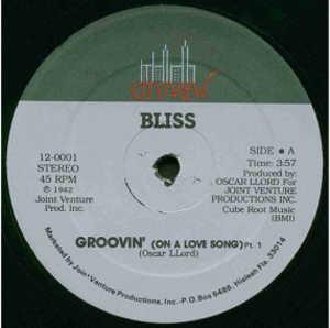 Single Cover Bliss - Groovin' (on A Love Song)