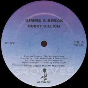 Single Cover Bobby - Gimme A Break Gilliom