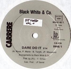 Single Cover Black White And Co - Dare Do It