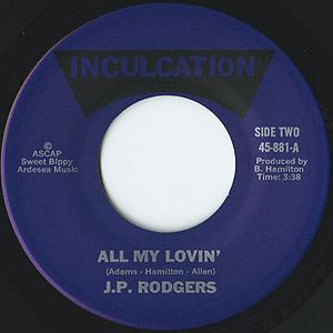 Single Cover J.p. - All My Lovin' Rodgers Jr.