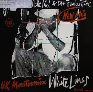 Single Cover Grandmaster - White Lines (uk Mastermix Melle Mel