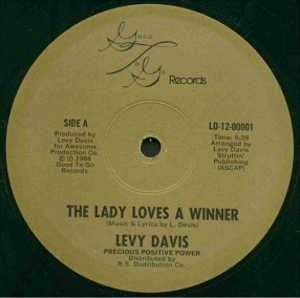 Single Cover Levy - The Lady Loves A Winner Davis