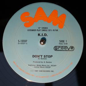 Single Cover K.i.d. - Don't Stop