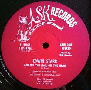 Single Cover Edwin - You Hit The Nail On The Head Starr