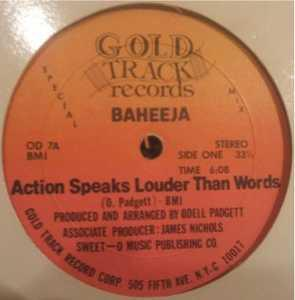 Single Cover Baheeja - Action Speaks Louder Than Words