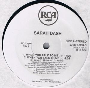 Single Cover Sarah - When You Talk To Me Dash