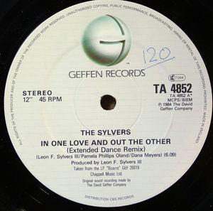 Single Cover Sylvers - In One Love And Out The Other