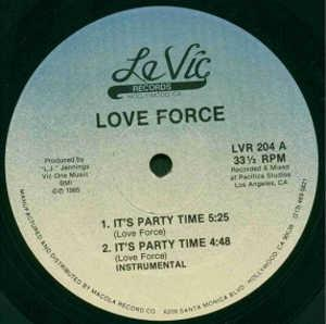 Single Cover Love Force - It's Party Time