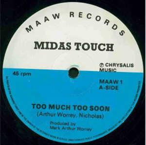 Single Cover Midas Touch - Too Much Too Soon