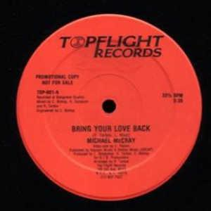 Single Cover Mike - Bring Your Love Back (red Promo) Mccray