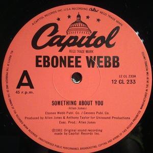 Single Cover Ebonee - Something About You Webb
