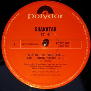 Single Cover Shakatak - Feels Like The Right Time