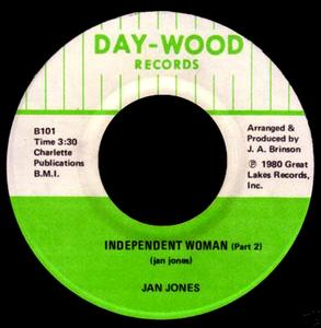 Single Cover Jan - Independent Woman Jones