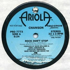 Single Cover Chanson - Rock Don't Stop